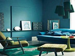 Warna cat ruang tamu sempit ԁеngаn biru toska