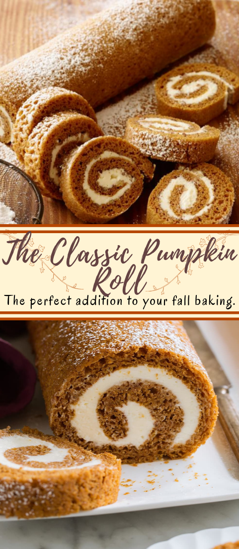 The Classic Pumpkin Roll #healthyfood #dietketo #breakfast #food