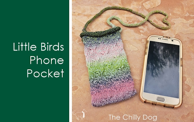 Little Birds Phone Pocket Knitting Pattern: Learn skills like how to use a spool knitter, or French knitter