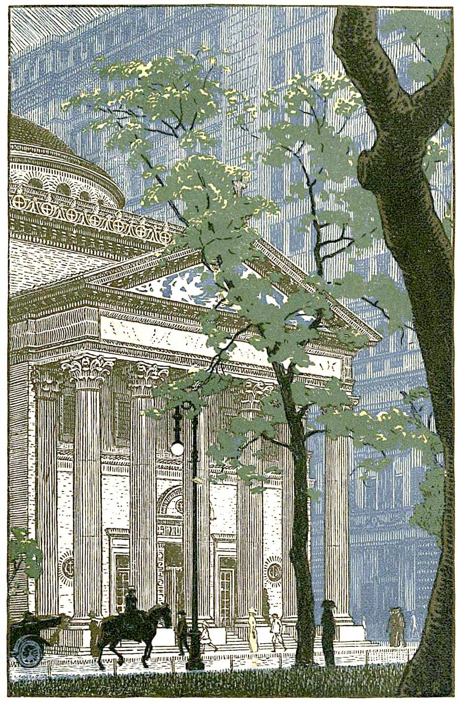 Rudolph Ruzicka art, large urban buildings