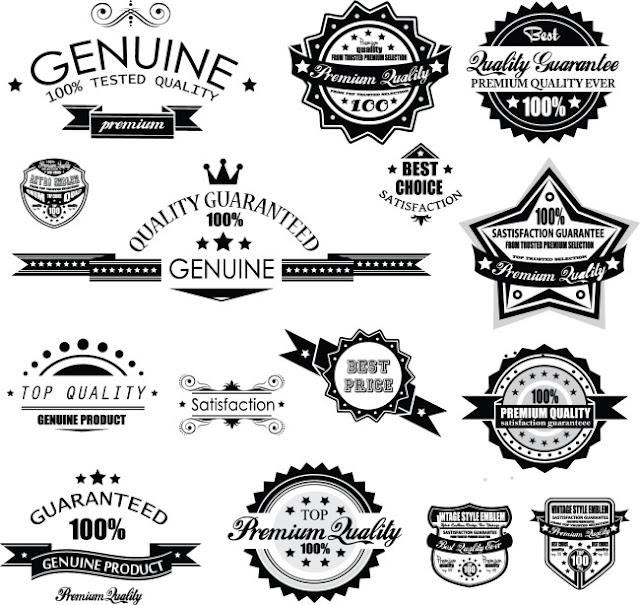 Premium Quality Labels Royalty Free Vector Image