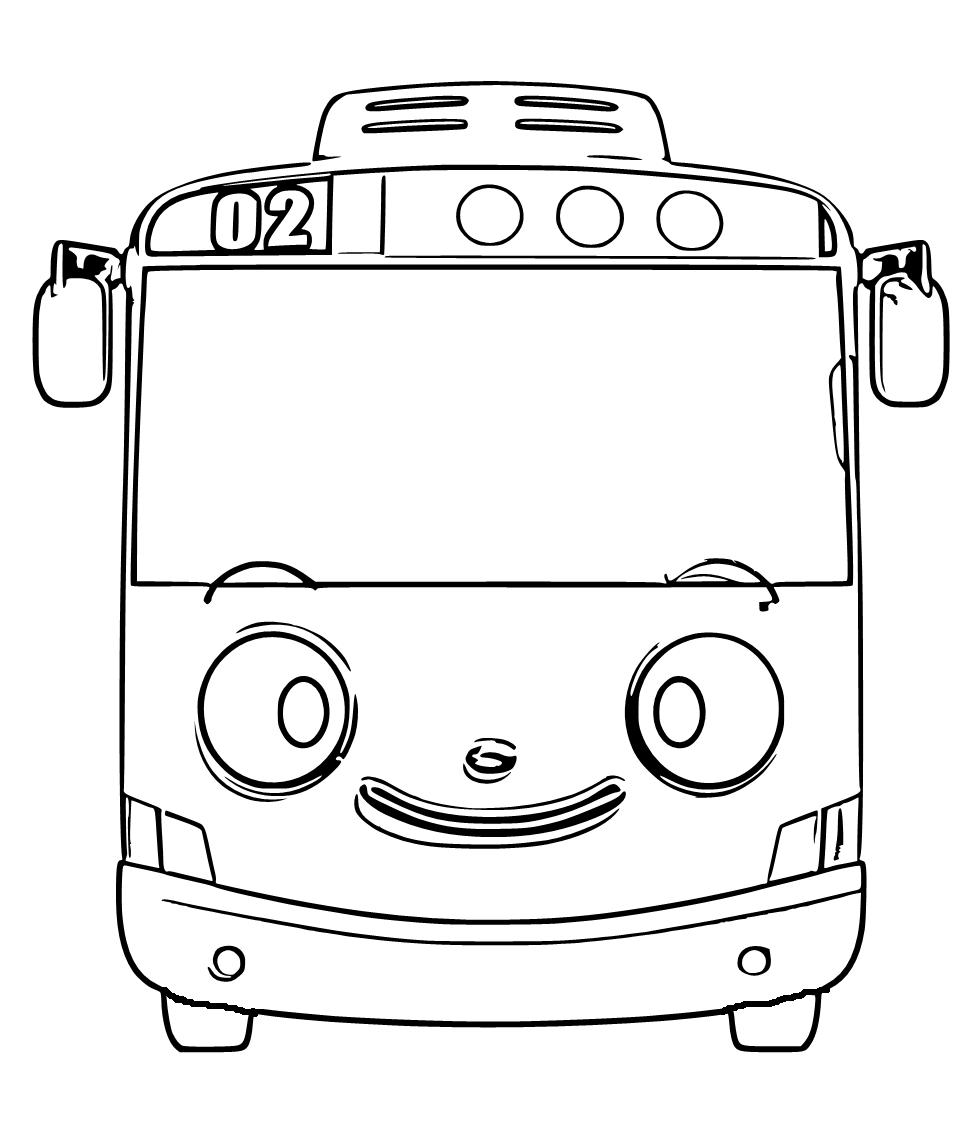 Mewarnai Gambar Bus Lani Lucu Aneka Mewarnai Gambar