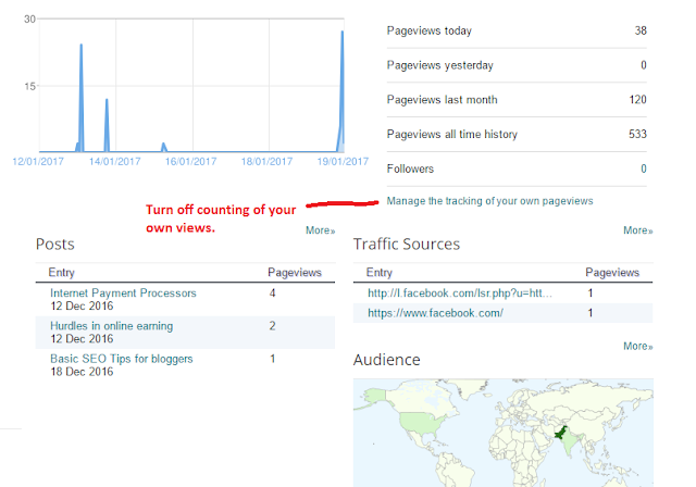 Manage the tracking of your own pageviews web4newbies.com