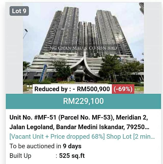 Discount Hartanah RM500k, Harga jadi RM229k