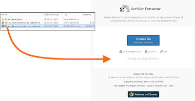 Drag and Drop to Archive Extractor