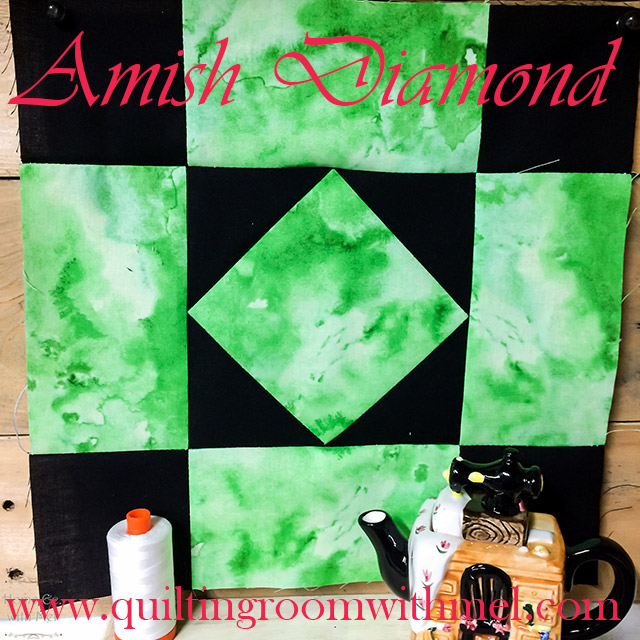 amish diamond quilt block