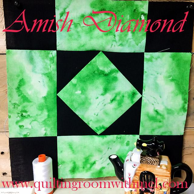 amish diamond quilt block
