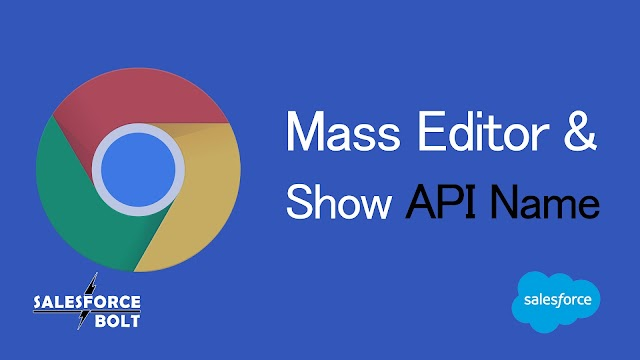 Mass Editor & Show API Name in Salesforce | Chrome Extensions | Productivity Hacks