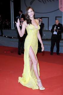 Irina Shayk Gets Naughty Exposing her full boobs at the Premiere of Hikari at Cannes
