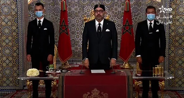 نص الخطاب الملكي الذي تلاه الملك على شعبه.