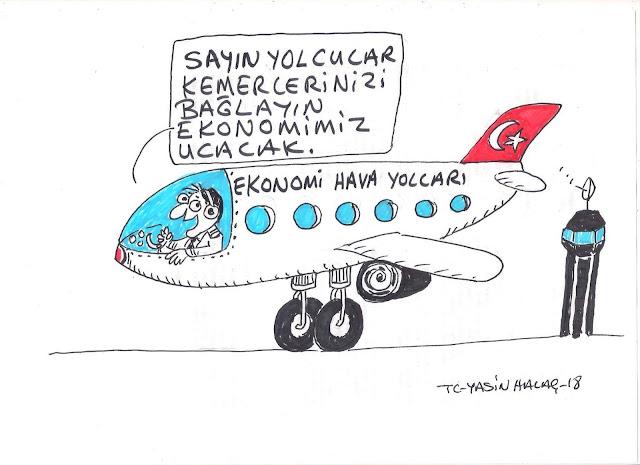 ekonomi hava yolları karikatür