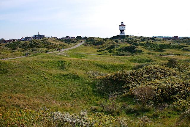 Ein Blick über die Dünen zum Wasserturm