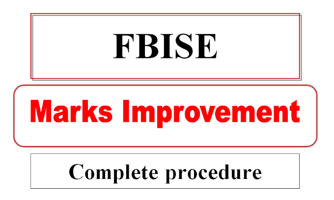 How to apply online for marks improvement admission FBISE