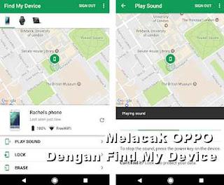 Melacak dan menemukan hp oppo dengan aplikasi find my device