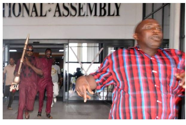 Names Of 5 Suspects Arrested For Stealing Senate's Mace (See The Names Here)