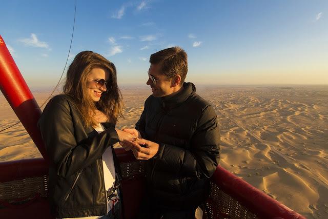 Romantic Places to Visit in Dubai Honeymoon hot air balloon