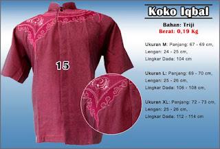 Baju koko muslim kombinasi bordir murah dan berkualitas - Iqbal