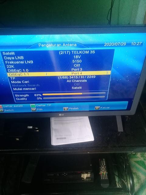 Cara Mencari Siaran Indosiar dan SCTV MATRIX GARUDA