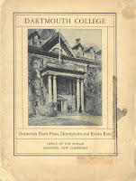 Front cover of Dartmouth's dormitory room layouts and prices