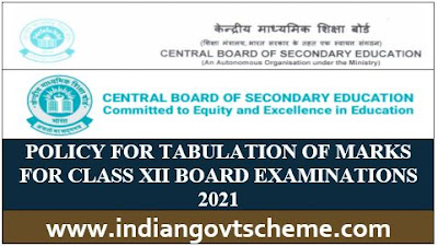 POLICY FOR TABULATION OF MARKS
