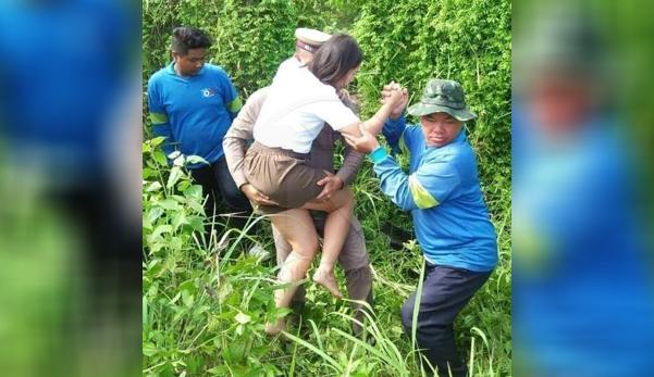 Seorang polisi alami luka di kepala setelah foto membantu wanita korban kecelakaan, istrinya cemburu