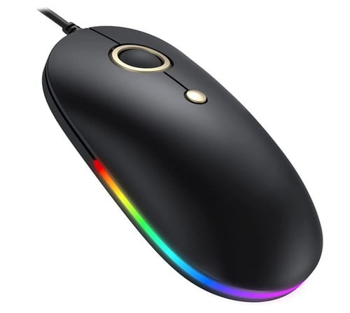Vic Tech FL Wired RGB Optical Silent Computer Mouse