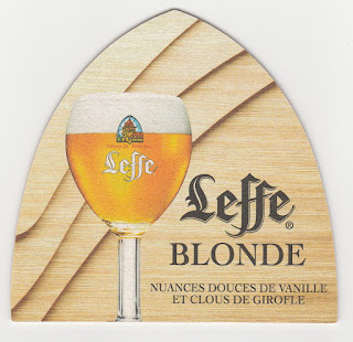 Le sous-bock de la biére blonde