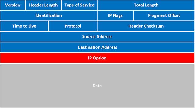 حقول هدر حزمة IP