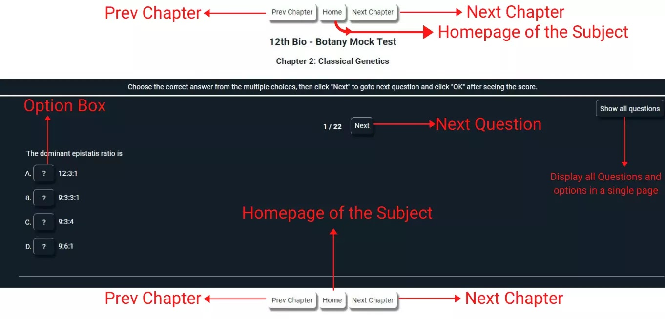 How to perform frisqoo prepare Samacheer Kalvi EM 12 Bio - Botany Unit10 Chapter10 MCQs Mock Test