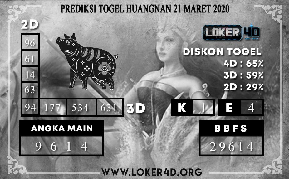PREDIKSI TOGEL HUANGNAN LOKER4D 21 MARET 2020