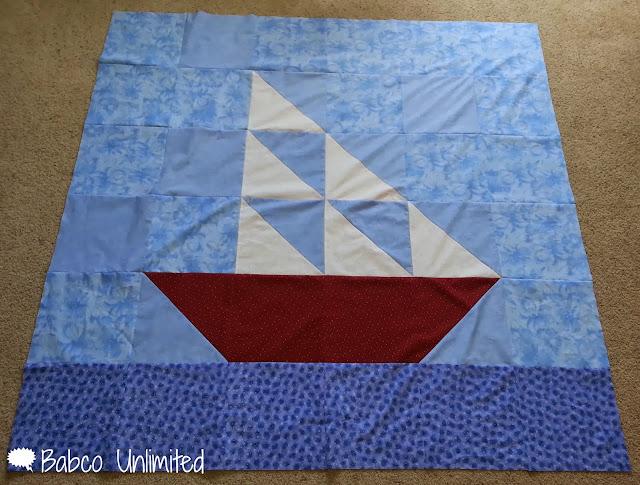 BabcoUnlimited.blogspot.com - Big Block Boat Quilt