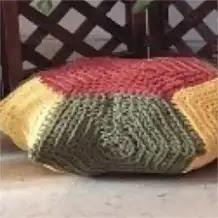 Cojín Hexágonal a Crochet