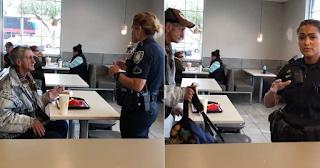 ΗΠΑ: Aστυνομία πετάει άστεγο έξω από McDonald's ενώ είχε πληρωθεί το γεύμα του