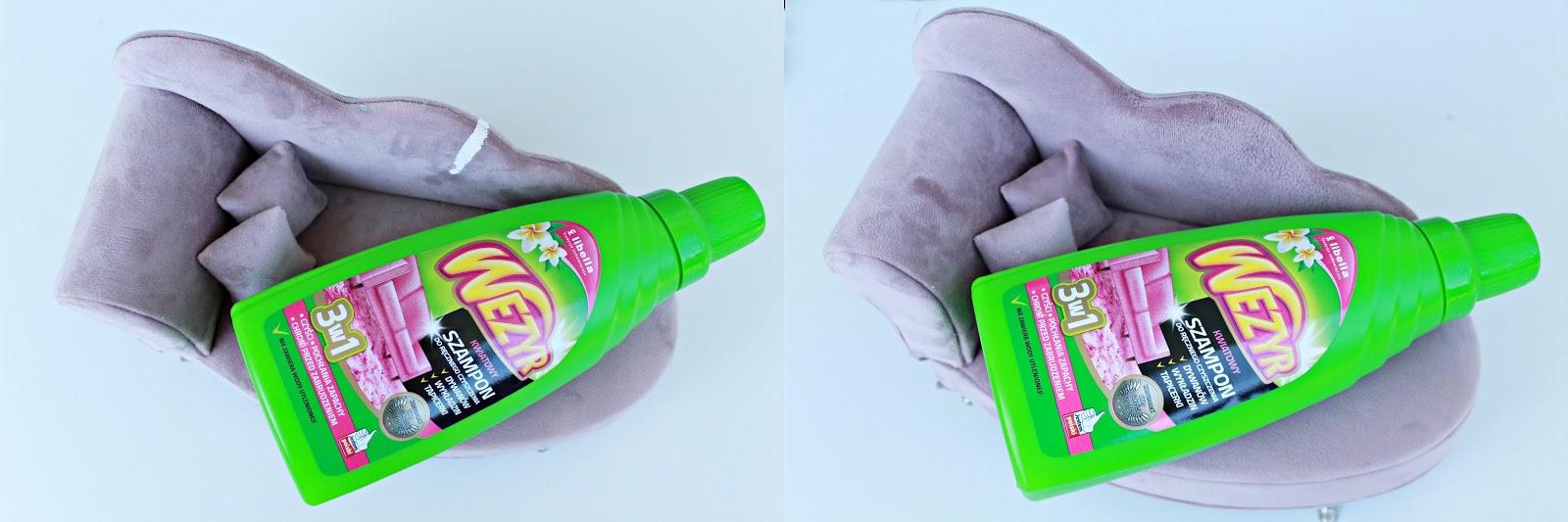 wezyr szampon do dywanów, perlux odplamiacz