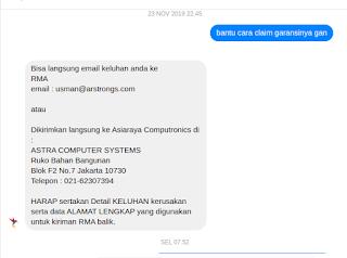 Pengalaman Klaim Garansi SSD Adata Indonesia