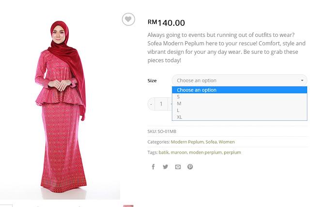 baju modern peplum, lanafira, butik online, butik muslimah online, butik pakaian muslimah, butik pakaian muslimah online,
