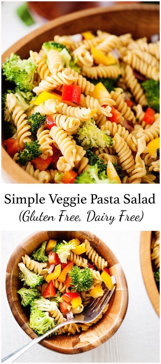 Simple Veggie Pasta Salad