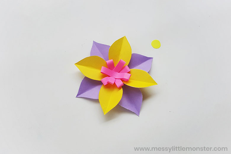 paper flower craft with flower template