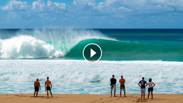 Realtime Watch Large North Pacific Swell Hit Hawaii and the West Coast Live