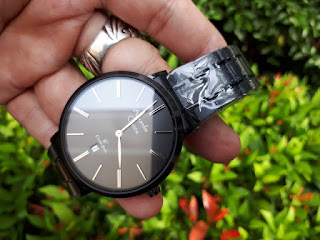 Jam Tangan Alexandre Christie AC 8597 MD BIPBA Men Black Dial Back Stainless Steel Like New