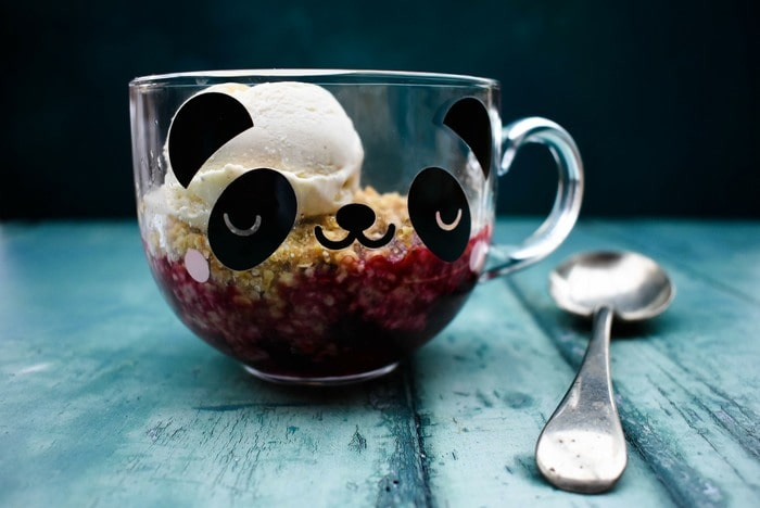 Microwave Blackberry Crumble