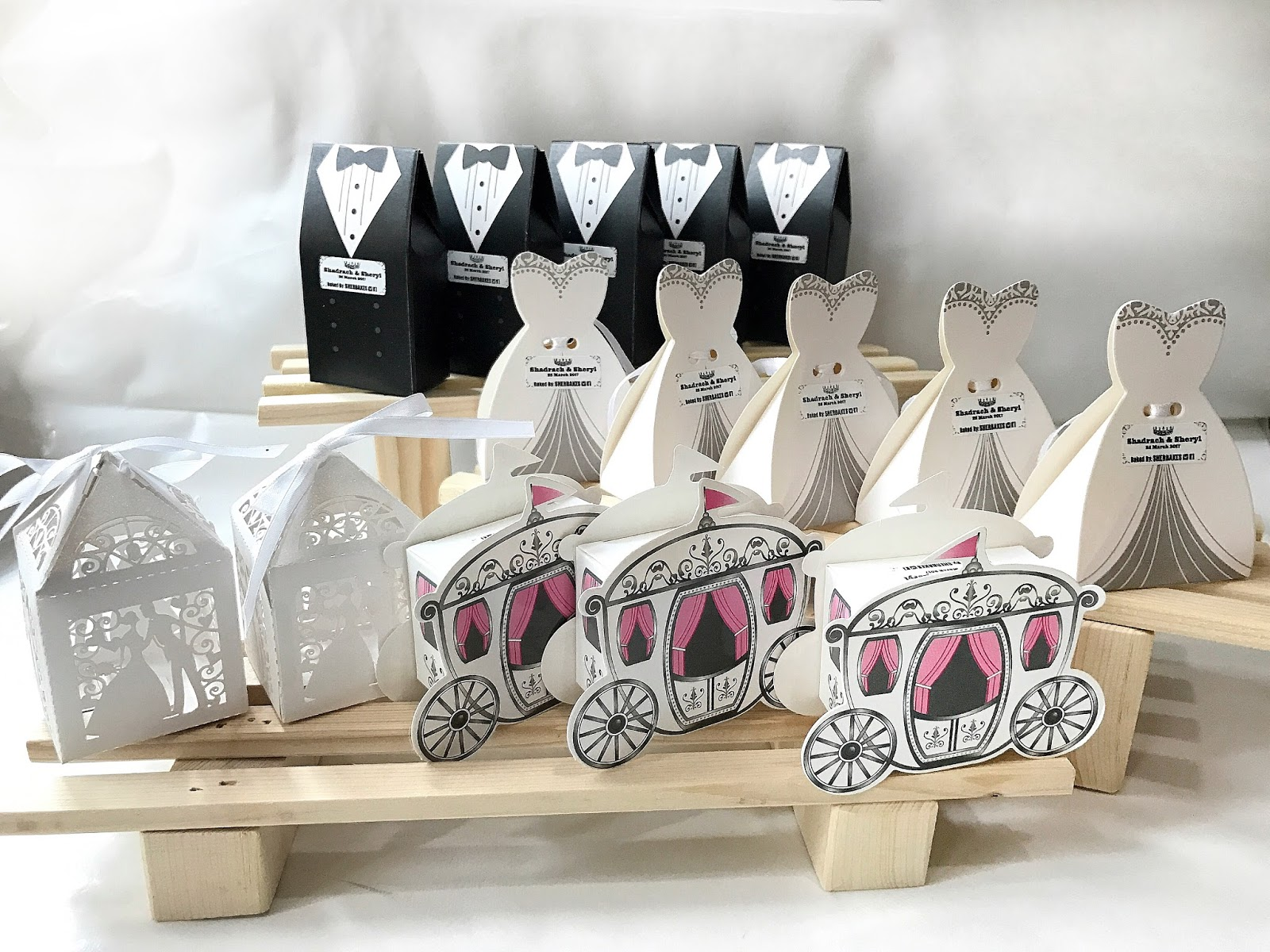 Bride And Groom Princess Carriage Wedding Cookie Favors Sherbakes