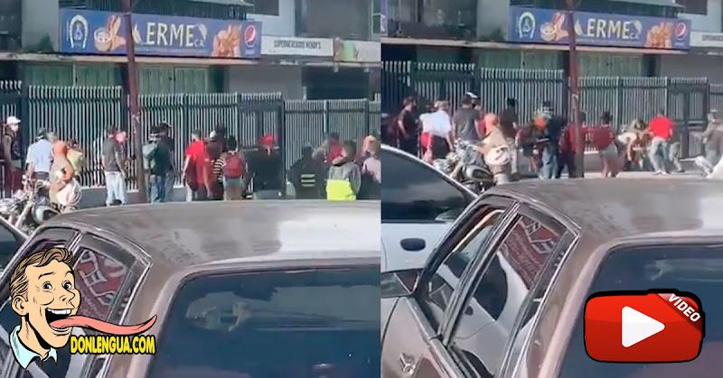 GNB arremete contra un ciudadano en Petare que quería circular libremente