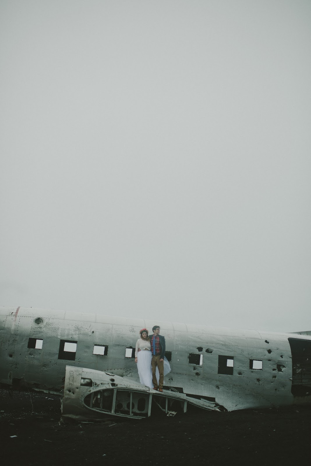 Iceland, Plane, Crash, wedding, elopement, photos,