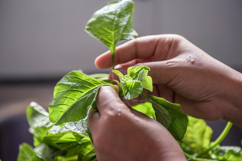 note saak (green amaranth)