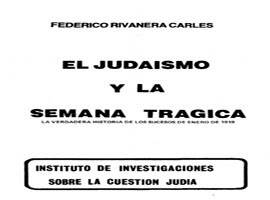 EL JUDAISMO EN LA SEMANA TRAGICA