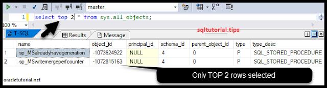SQL SERVER TOP Tutorial