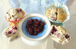 blackberry muffins, egg free, dairy free