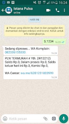 Trx lewat Pulsa dari WhatsApp
