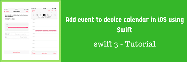 Add event to device calendar in iOS using Swift